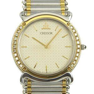 Genuine SEIKO Seiko Credor Diamond Bezel Men's Quartz Wrist Watch 5A74-0190