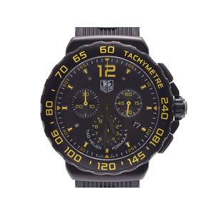 タグホイヤー フォーミュラ1 黒文字盤 CAU111E メンズ SS/ラバー クオーツ 腕時計 Aランク 美品 中古 銀蔵