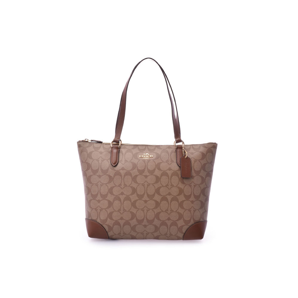 518ce458d9 spain coach tote bag signature brown type light outlet f29208 ladies pvc  leather unused beautiful goods