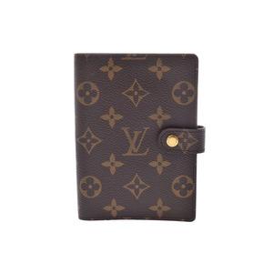 ルイ・ヴィトン(Louis Vuitton) ルイヴィトン モノグラム アジェンダPM ブラウン R20005 メンズ レディース 本革 手帳カバー ABランク LOUIS VUITTON 中古 銀蔵