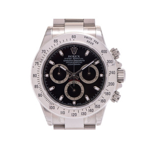 ROLEX Daytona black letter board 116520 M Men's SS automatic winding wrist watch unused beautiful goods box seal attaching used secondhand