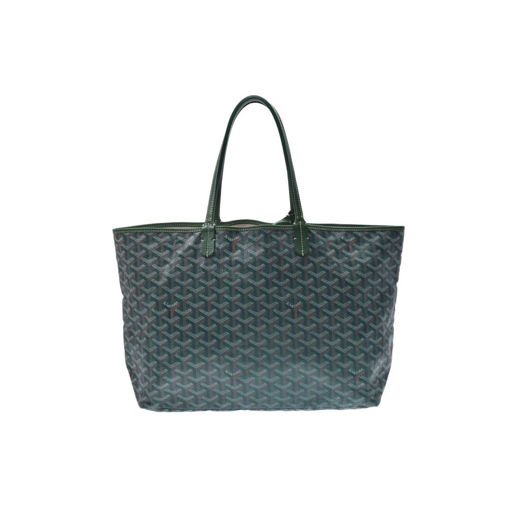 Goyard Saint Louis PM Green Men's Women's PVC AB Rank GOYARD Pre-owned Ginza with Pouch