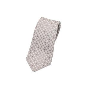 Louis Vuitton necktie beige M73882 Men's silk 100% unused beautiful goods LOUIS VUITTON second hand silver storage