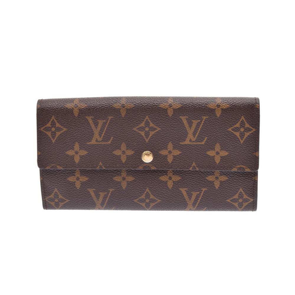 e70ce3d9208f ルイ・ヴィトン(Louis Vuitton) ルイヴィトン モノグラム ポルトフォイユ サラ ブラウン M61734 メンズ レディース 本革 長 ファスナー財布 ...