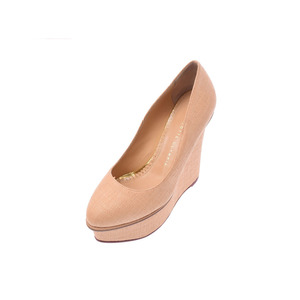 Charlotte Olympia pumps beige size 37 ladies wedge sole unused beautiful goods CHARLOTTE OLYMPIA second hand silver storage