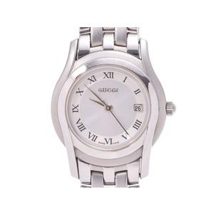 グッチ 5500L シルバー文字盤 レディース SS クオーツ 腕時計 Aランク 美品 GUCCI 中古 銀蔵