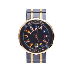 Corum Admirals Cup Gun Blue Navy Dial Face Women's YG / SS Quartz Wrist Watch AB Rank CORUM Used Ginza