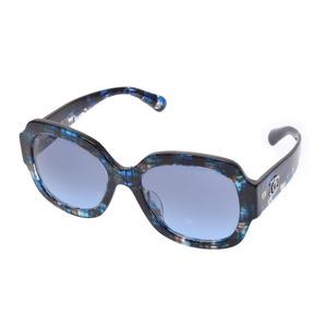 シャネル(Chanel) シャネル サングラス アセテートフレーム 5373-A c.1606/S2 青 Aランク 美品 CHANEL ケース 箱 中古 銀蔵