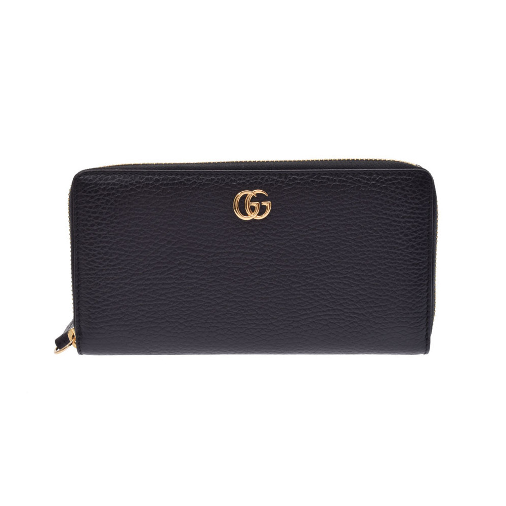 51828ca0936 Gucci Petit Mermont Zippy Wallet Black Ladies Men s Leather Long Purse  Unused Beauty Item GUCCI Box ...