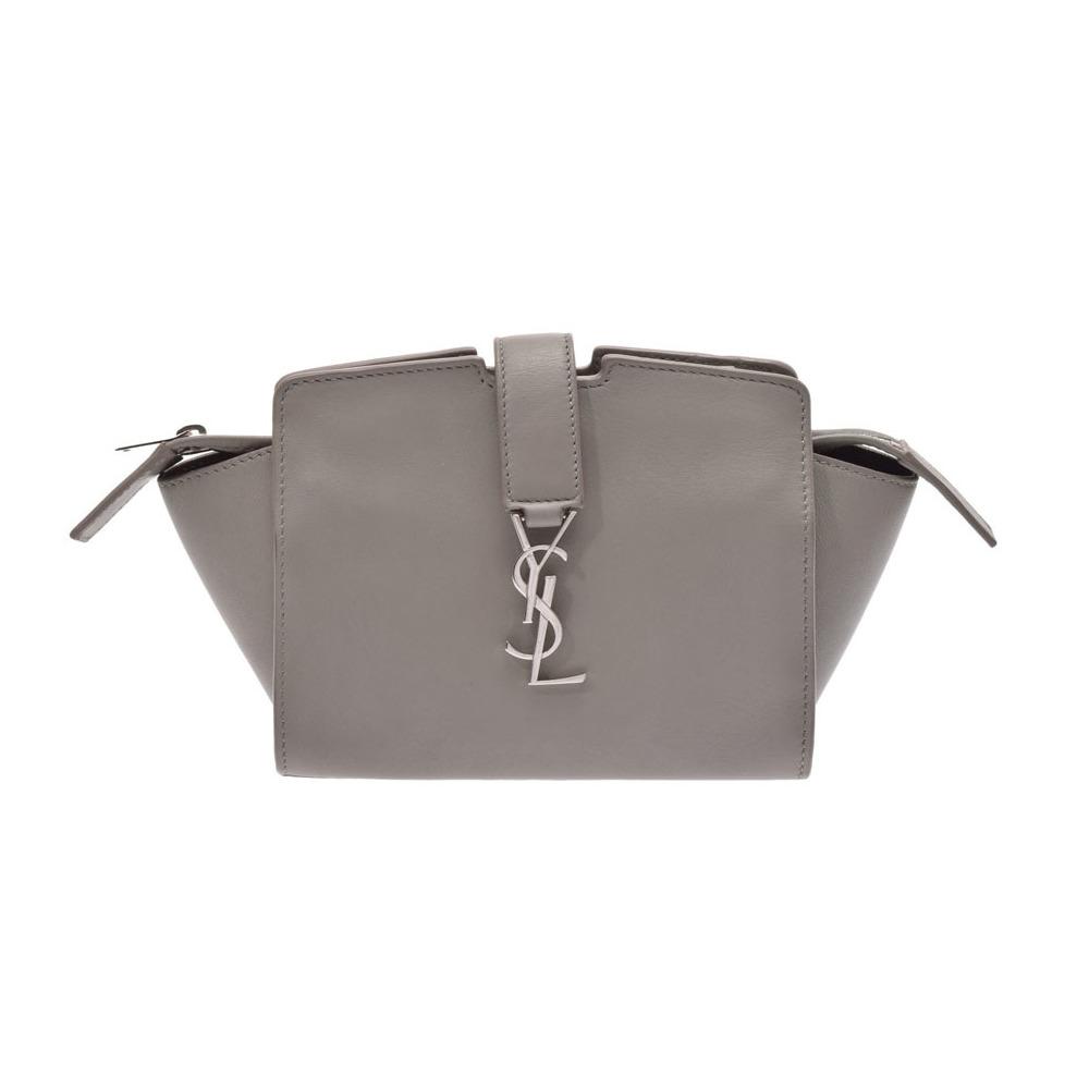 Saint Laurent Y line mini shoulder bag gray women s calf B rank SAINT  LAURENT second hand silver storage 2a74dfe9be41a