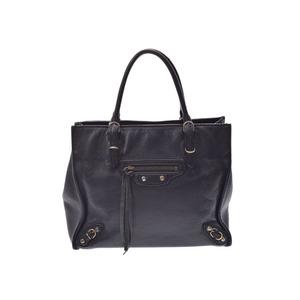 Balenciaga Paper Mini Black Ladies Calf 2 Way Handbag B Rank BALENCIAGA Used  Ginza 695563f8d4920