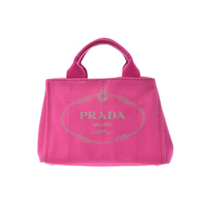 Prada Canapamini Canvas Pink Ladies 2 Way Tote B with Rank Strap PRADA Used Ginza