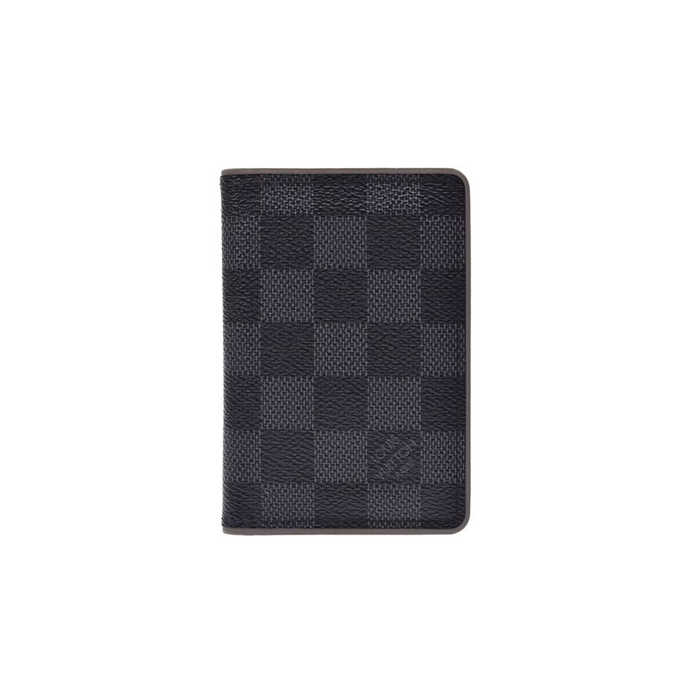 9795dc317ac7 Louis Vuitton Grafito Organizer De Posch Gurej series N63256 Men s real  leather Vertical business card holder ...