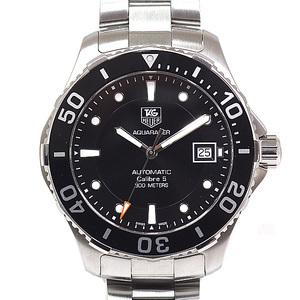 [TAG Heuer] TAG HEUER Men's Watch Aqua Racer Caliber 5 WAN 2110 Black Dial