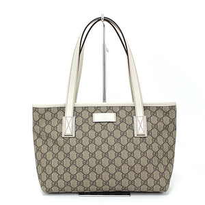 Gucci GUCCI GG plus tote bag PVC coated canvas / leather beige off-white 211138 unused item