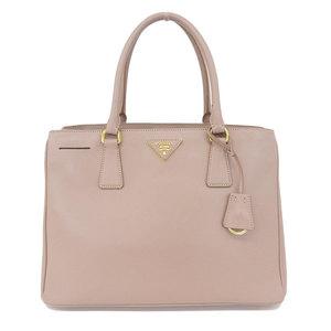 Authentic PRADA Prada Saferiano Galleria 2WAY Handbag Pink Bag Leather