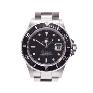 ロレックス サブマリーナ 黒文字盤 16800 メンズ SS トリチウム 自動巻 腕時計 ABランク ROLEX 中古 銀蔵