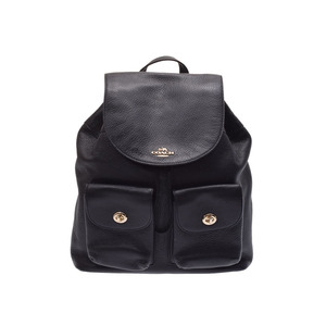 c1fe0e26118f Coach bag pack black F 37410 Women s leather backpack A rank beautiful  goods COACH second hand