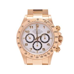ロレックス デイトナ 白文字盤 16528 N番 メンズ YG シングルブレス 自動巻 腕時計 Aランク 美品 ROLEX 中古 銀蔵