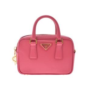 Prada 2 WAY Mini Bag Pink BL 0 914 Ladies' Saffiano A rank 美 品 PRADA Used Ginza
