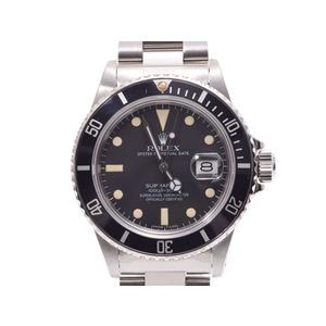 ROLEX submariner black letter board 16800 needle exchange men's SS tritium automatic winding wrist AB rank beautiful goods secondhand silver storage