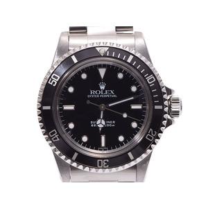 ロレックス サブマリーナ 黒文字盤 5513 メンズ SS 自動巻 腕時計 Aランク 美品 ROLEX 修理明細書 中古 銀蔵