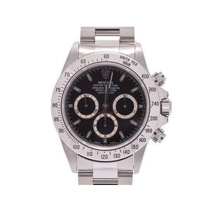 ROLEX Daytona black character board 16520 T # Mens SS automatic winding wristwatch A rank beautiful goods box gallery used silver storage
