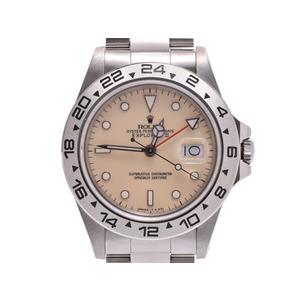 Rolex explorer 2 Ivory dial 16550 Center split needle exchange men's SS automatic winding watch A rank 美 品 ROLEX box second hand silver store