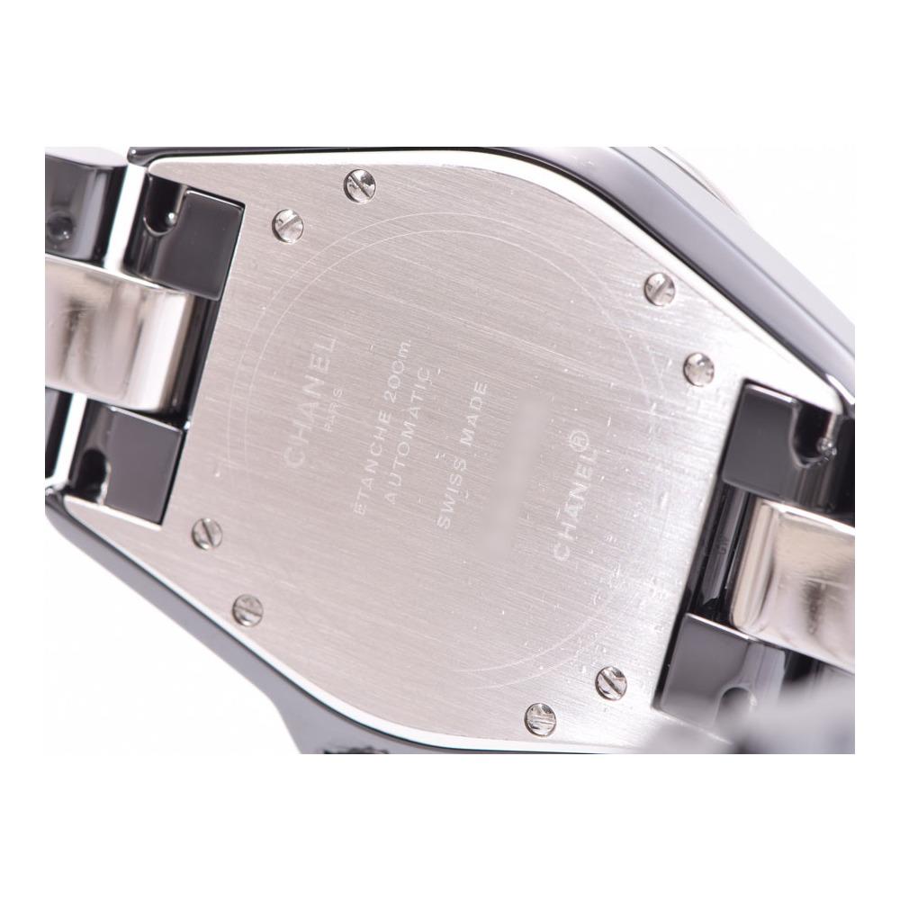 シャネル J12 黒文字盤 H1339 メンズ 黒セラミック ベゼル/ブレスセンターダイヤ 自動巻 腕時計 Aランク 美品 CHANEL 中古 銀蔵