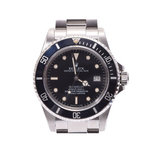 ROLEX SEEDWELLER black letter board 16660 Tritium triple six men's SS automatic winding watch AB rank beautiful goods secondhand silver storage