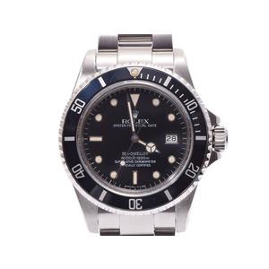 ロレックス シードウェラー 黒文字盤 16660 トリチウム トリプルシックス メンズ SS 自動巻 腕時計 ABランク 美品 ROLEX 中古 銀蔵