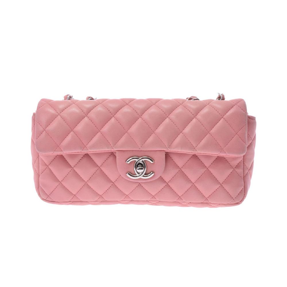 e14e2c0eefc9 シャネル(Chanel) シャネル マトラッセ チェーンショルダーバッグ ピンク SV金具 レディース ラムスキン Cランク