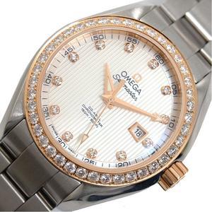 Omega OMEGA Seamaster Aqua tera 231.25.34.20.55.003 Co-Axial PG / SS Diamond Ladies Watch Finished