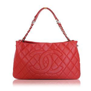 0edd1d65936ad Chanel CHANEL Matrasse Chain Tote Caviar Skin Red Shoulder Bag