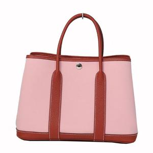 HERMES Garden Party TPM Rose Sakura × Rouge Duesse T Tote Bag Handbag Women's