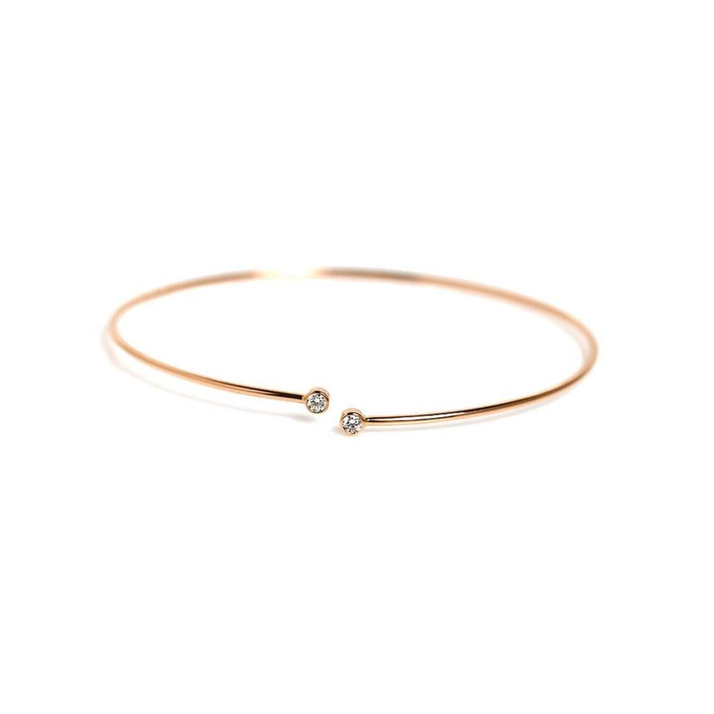 b408e02d58c Tiffany TIFFANY   CO Elsa Peretti Diamond Hoop Single Row Bangle K18RG  Ladies  Bracelet Jewelry Finished
