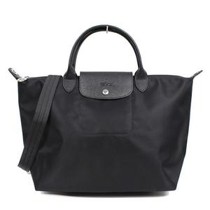 Longchamp LONGCHAMP Lupuirege Neo M L1515578001 Black Tote Bag Women's as good new
