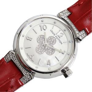Louis Vuitton LOUIS VUITTON Tambour Forever Q121P Quartz Diamond Ladies Watch