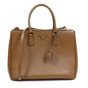 Prada PRADA 2 WAY Handbag 1 BA 786 Safiano Lux Brown (CANNELLA) Women's