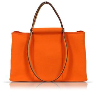 HERMES Kabak MM Orange Tote Bag Women's