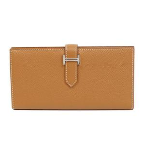 HERMES BEAN CLASSIC Vaud · Epson Gold Silver hardware fittings A worn purse Women's