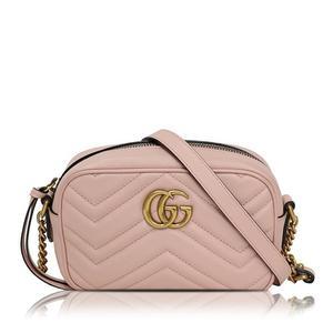 Gucci GUCCI quilting mini bag 448065 leather pink shoulder