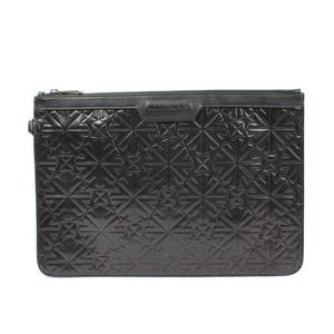 Jimmy Choo JIMMY CHOO DEREK Star Embossed Clutch Bag Black Calf