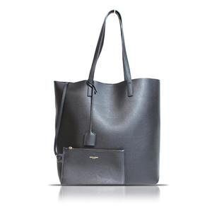 Saint Laurent SAINT LAURENT shopping tote bag 454203 black ladies