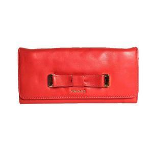 Prada PRADA folding wallet 1M 1132 soft calf CORALLO ladies