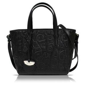 Salvatore Ferragamo Ferragamo Salvatore Logo 2 Way Bag Leather Black Shoulder