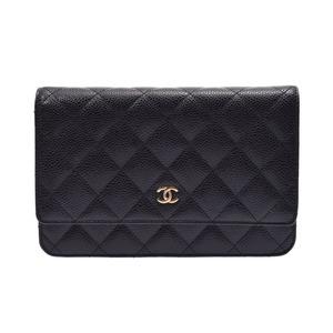 Chanel Matrasse Chain Wallet Black G Hardware Women's Caviar Skin unused beautiful item CHANEL Box Gala Used Ginza