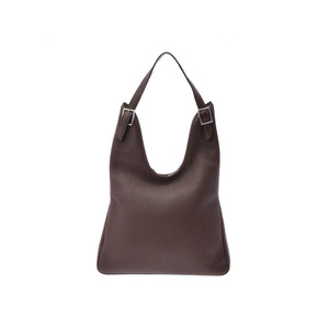 Hermes Maasai Havana Dark Brown □ M Engraved Mens Women's Triillon One Shoulder Bag AB Rank HERMES Used Ginza