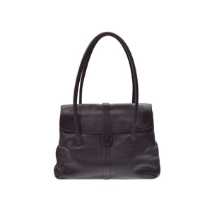 Chanel Shoulder Bag Brown Women's Soft Calf B Rank CHANEL Used Ginza