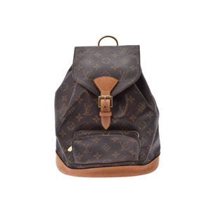 Louis Vuitton Monogram Monsuris MM Brown M51136 Ladies Leather Backpack B Rank LOUIS VUITTON Used Ginza